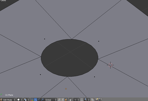 Creating perfect circular cutout from a mesh in blender
